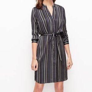 Loft striped shirt dress